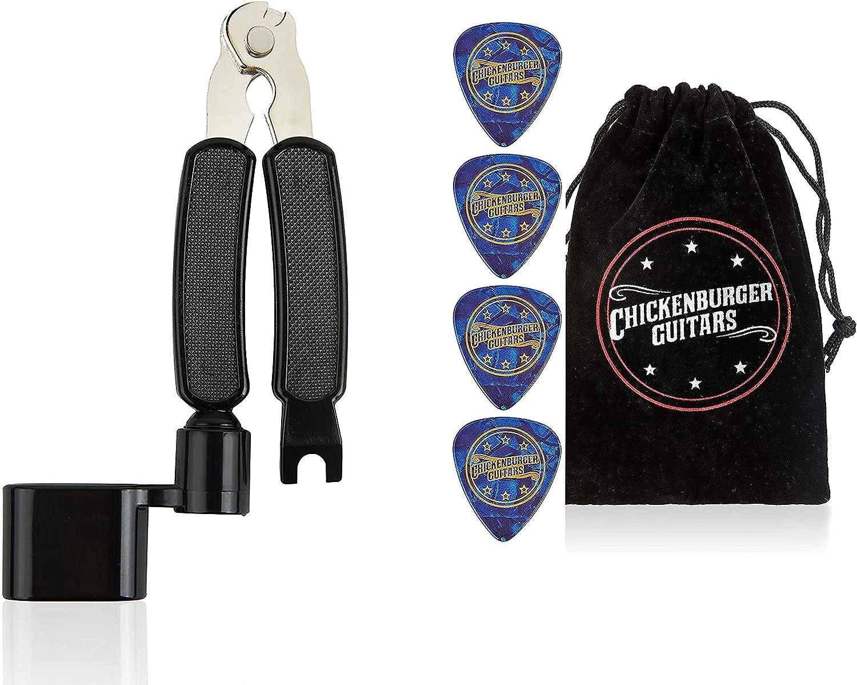 Enrollador y cortador de cuerdas de guitarra de alta calidad en bolsa de regalo.