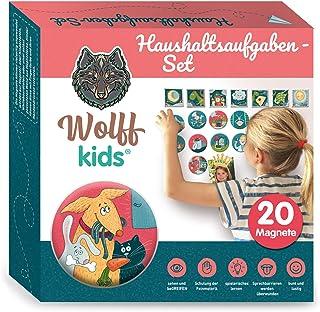 Wolff kids Planer tygodniowy dla dzieci, zadania gospodarstwa domowego, tablica nagrodowa dla dzieci, system nagród dla dz...
