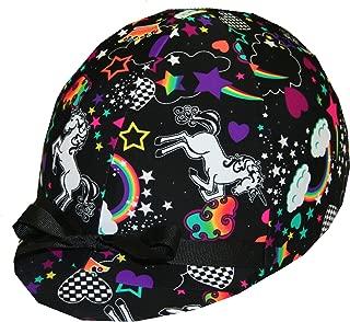 Equestrian Riding Helmet Cover - Rainbow & Unicorn