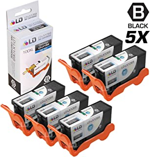 LD Compatible Ink Cartridge Replacement for Lexmark 100XL 14N1068 High Yield (Black, 5-Pack)