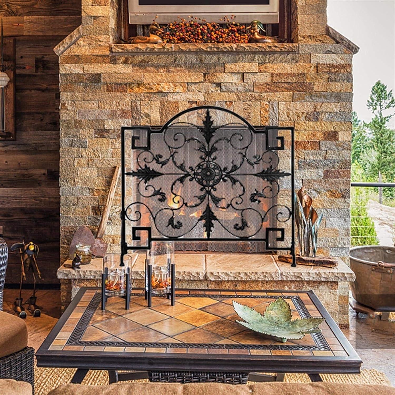 Design Excellent Specialties Single Panel Screen Retro Fireplace Excellent Wrought