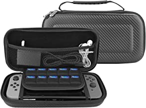 Sunjoyco Waterproof Case for Nintendo Switch, ProCase Hard Shell Game Carrying Box Travel Storage Bag for Nintendo Switch Game Console Accessories Cable, Ear Buds, SD Cards