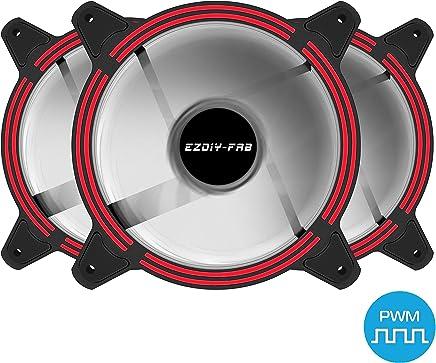 Everpert PC Computer 33 LED Luces 120 mm Silent Computer Case Heatsink Cooler Fan azul azul
