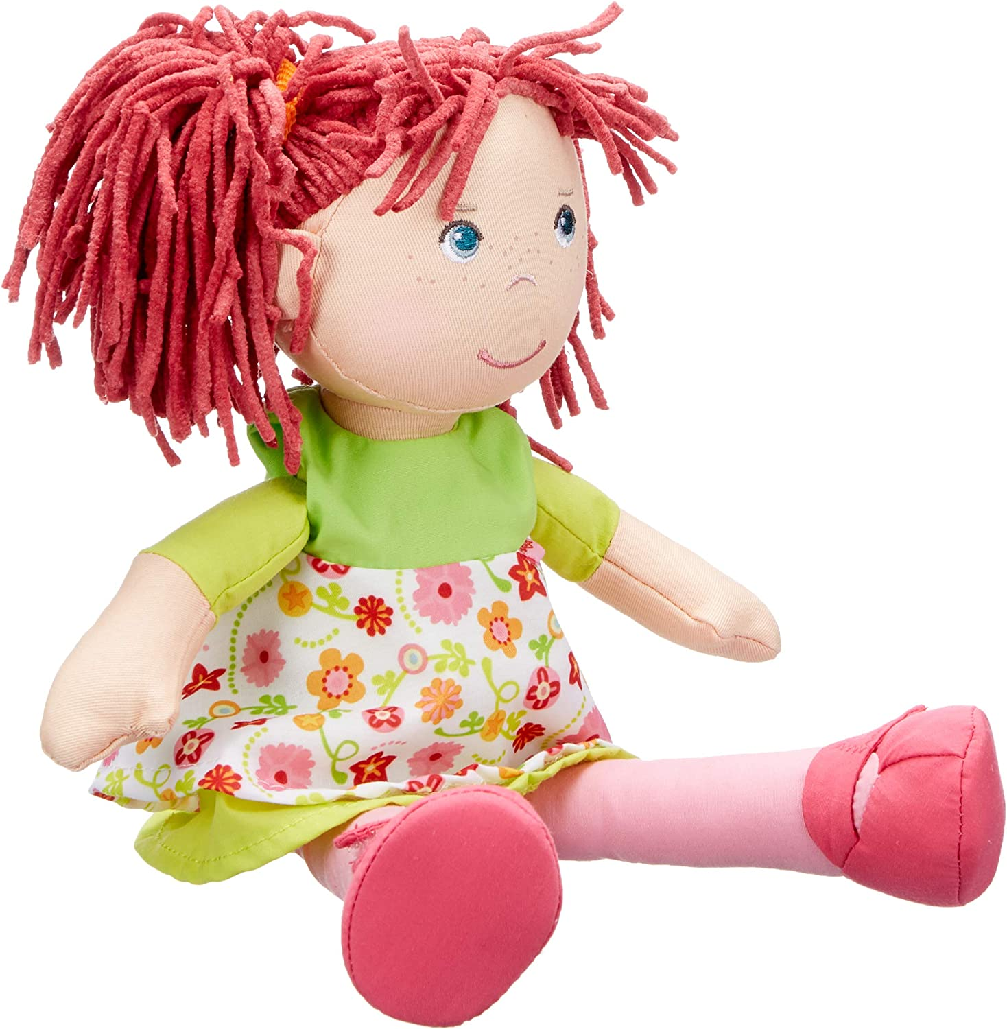 HABA Liese 12  Soft Doll with bluee Eyes and Red Pigtails