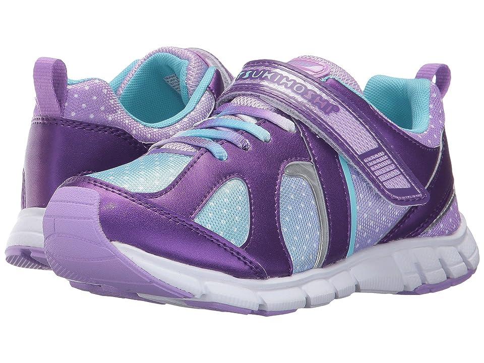Tsukihoshi Kids Rainbow (Little Kid/Big Kid) (Purple/Light Blue) Girls Shoes