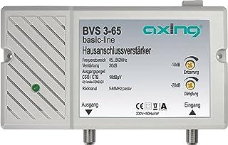 Axing BVS 3 65 Hausanschlussverstärker mit Rückkanal 5 65 MHz (30 dB, 85 862 MHz, 98 dBµV)