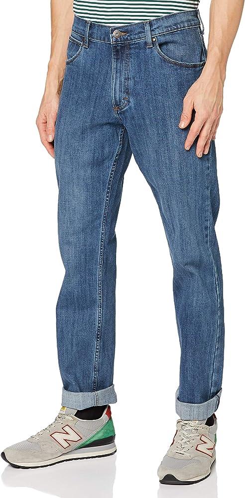 Wrangler authentic regular, jeans per uomo,99% cotone, 1% elastan W10GM6098