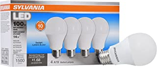 SYLVANIA General Lighting 78103 Sylvania Non-Dimmable Led Light Bulb, 14 W, 120 V, 1500 Lumens, 5000 K, CRI 80, 2.375 in Dia X 4.29 in L, Daylight, 4 Piece