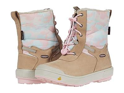 KEEN Kids Kelsa Tall WP (Little Kid/Big Kid) (Plaza Taupe/Pink Blush) Girl