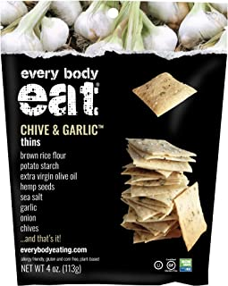 Every Body Eat Snack Thins, Chive and Garlic Flavor, 6 Bags