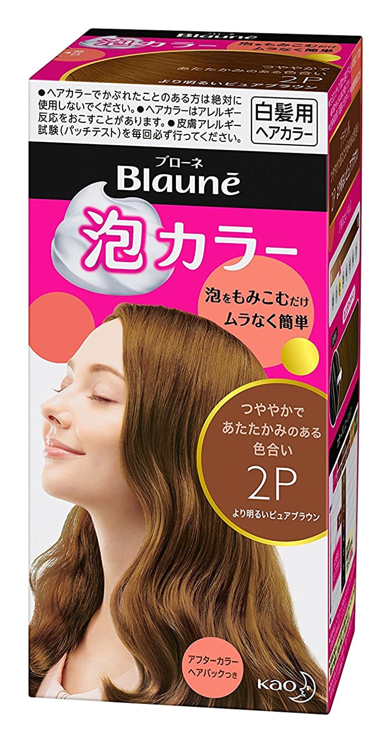 言うまでもなくランプ調査【花王】ブローネ泡カラー 2P より明るいピュアブラウン 108ml ×20個セット
