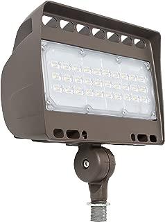 Westgate Lighting LED Flood Light with Knuckle Mount - Best Security Floodlight Fixture for Outdoor Yard Landscape Garden Lights - Safety Floodlights - UL Listed (50 Watt 3000K Warm White Dark Bronze)