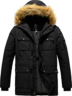 Men's Winter Coat Fur Hooded Thicken Parka Puffer Jacket