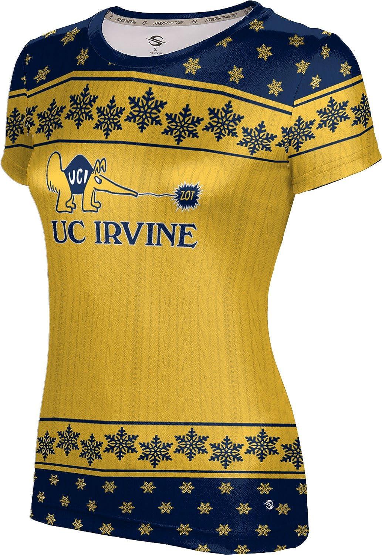 University of California Irvine Ugly Holiday Girls' Performance T-Shirt (Snowflake)