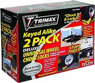 Trimax TCL275 Wheel Chock Lock, 2 Pack