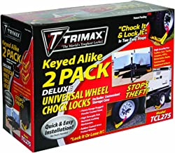 Trimax TCL275 Wheel Chock Lock, 2 Pack