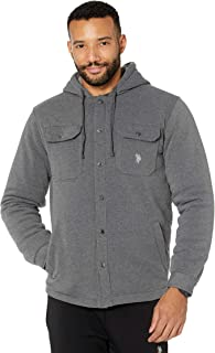 U.S. Polo Assn. Fleece Shirt Hoodie Dark Heather XL