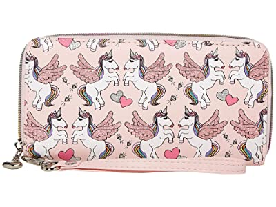 OMG! Accessories Winged Unicorn Wallet (Pink) Handbags