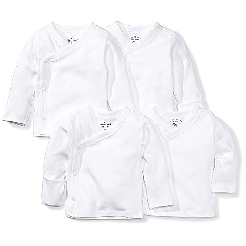7cf505403e Moon and Back Baby Set of 4 Organic Long-Sleeve Side-Snap Shirts