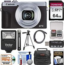$769 » Canon PowerShot G7 X Mark III Wi-Fi Digital Camera (Silver) with 64GB Card + Case + Tripod + Flash Kit