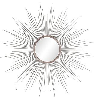 Patton Wall Decor Champagne Rays Metal Framed Sunburst Mirror, Gold