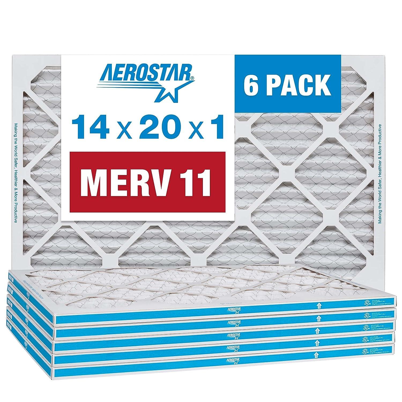 Aerostar 14x20x1 MERV 11 Pleated Air Furnace AC Filt Filter Regular dealer Import