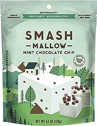 Mint Chocolate Chip by SMASHMALLOW | Snackable Marshmallows | Non-GMO | Organic Cane Sugar | 80 calo