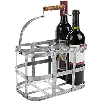 Amazon Com Kitchencraft Living Nostalgia Milk Bottle Holder Wire Metal Doorstep Milk Crate 29 X 20 X 13 Cm Kitchen Dining