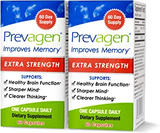 Prevagen Improves Memory - Extra Strength 20mg, 60 Capsules |2 Pack| with Apoaequorin & Vitamin D|Brain Supplement for Bet...
