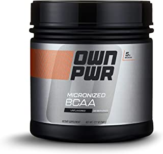 OWN PWR BCAA Powder, Unflavored, 60 servings, Micronized Branched Chain Amino Acids (2:1:1 Ratio)