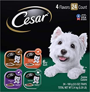 CESAR Wet Dog Food Variety Pack Trays 3.5 Ounces (Pack of 24)