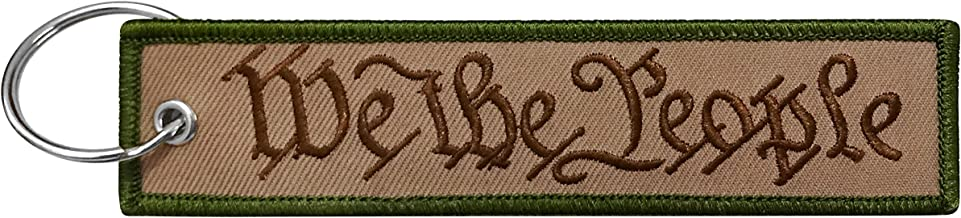 Military We The People Keychain Tag with Key Ring, EDC for Servicemen, Car, Motorcycle