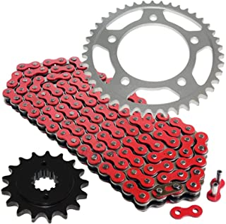 Caltric Orange Drive Chain And Sprockets Kit Compatible With Yamaha Yfz450R Yfz450X 2009-2018