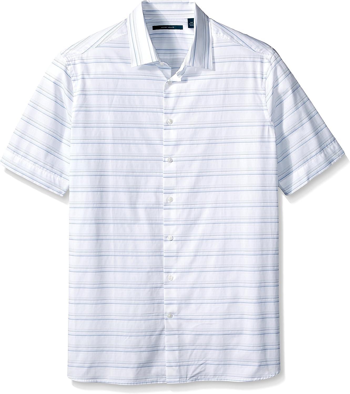 Perry Ellis Mens Big Horizontal Textured Stripe Shirt ...