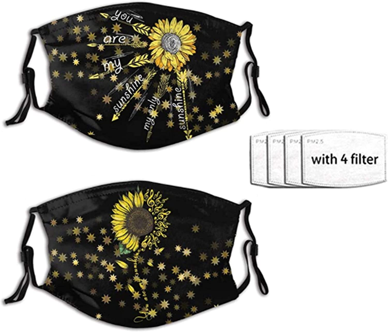 2PC Sunflower Music Sales of SALE items from new works Reusable Washable Anti Dust Face All stores are sold Balaclava