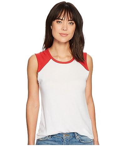 Alternative Vintage Jersey Team Player Tee (White/Red) Women