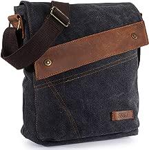 S-ZONE Canvas Messenger Bag Travel Small Shoulder Crossbody Purse Daypack