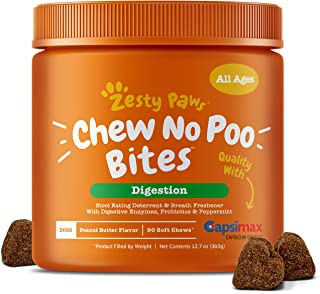Zesty Paws Chew No Poo Bites - Coprophagia Stool Eating...