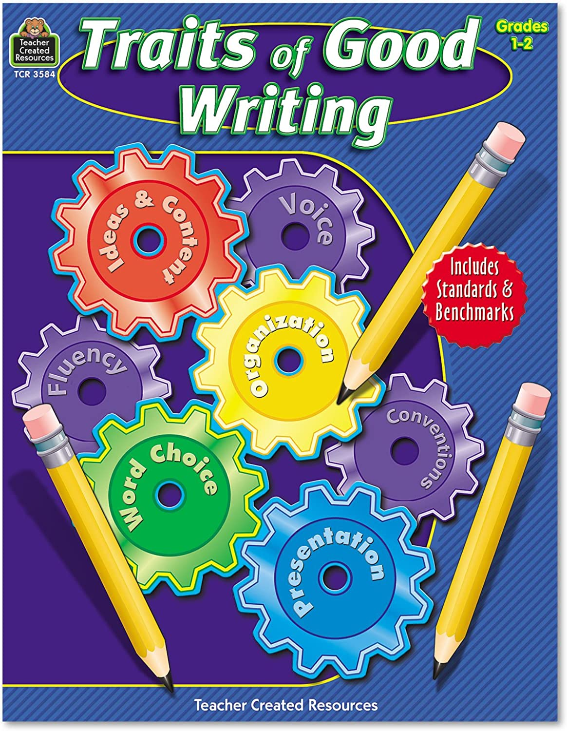 Teacher Created Resources 3584 Traits of Good Writing, Grades 1-2, 144 Pages (TCR3584)