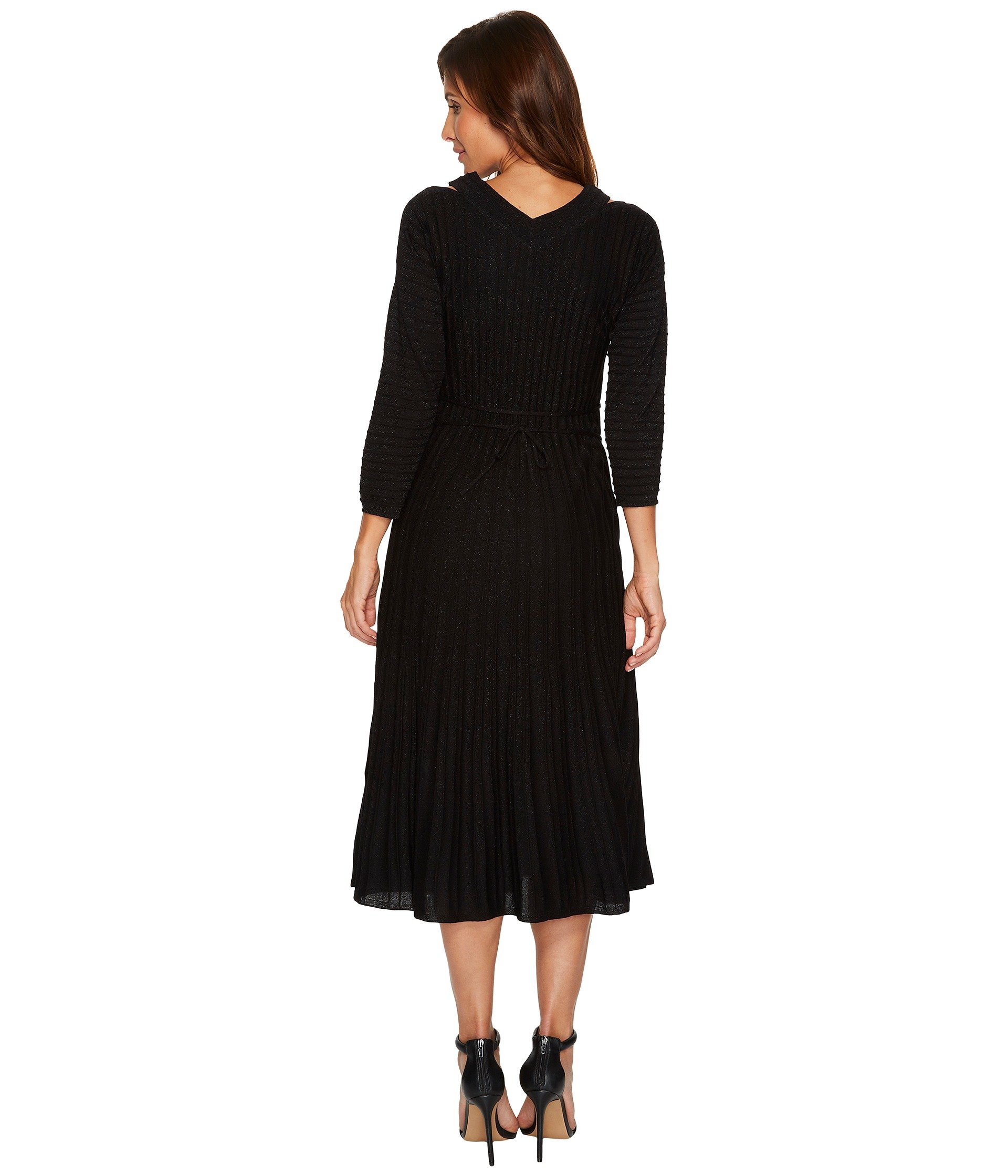 Nic Zoe Sleeved Shimmer Pleats Dress At 6pm