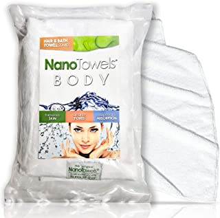 Nano Towels Hair Towel | Get No Frizz Hair With Ease. Control and Tame Curly Hair | Large & Super Absorbent Dryer Wrap (20 x 40