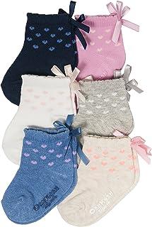OshKosh B'Gosh - Calcetines para niña (paquete de 6)