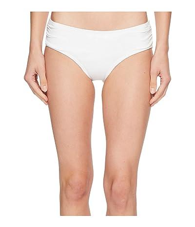 MICHAEL Michael Kors Shirred Bikini Bottoms (White) Women