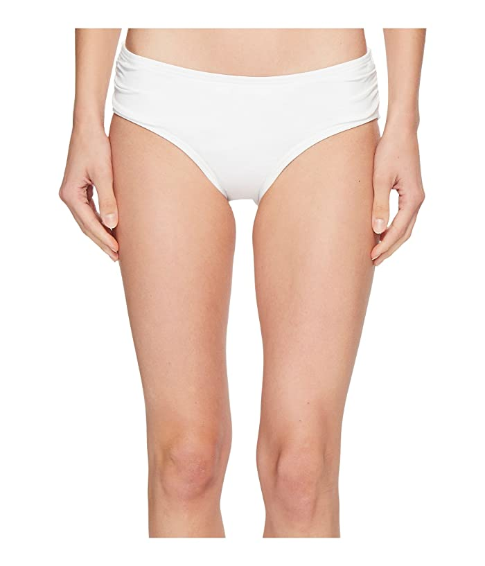 MICHAEL Michael Kors Shirred Bikini Bottoms (White) Women