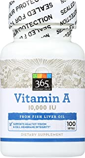 365 Everyday Value, Vitamin A 10 000 IU, 100 ct