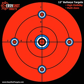 """""""Super-Saver"""" Bundle - Large 13 X 13"""" Maximum Visibility Bullseye Sight-in Targets for Shooting - Fluorescent Orange, Bright and Colorful - Easy to See Your Shots - 150 Repair Stickers"""