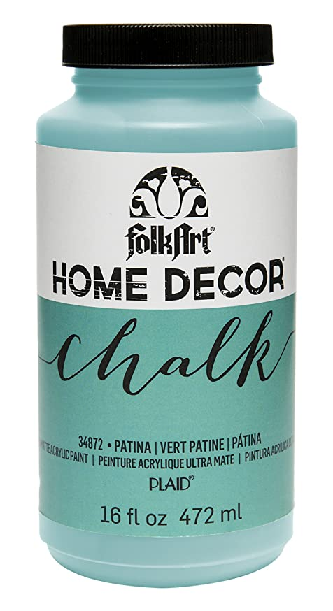 FolkArt 34872 Home Decor Chalk Furniture & Craft Paint in Assorted Colors, 16 ounce, Patina