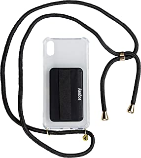 KEEBOS Phone Necklace Holder, Crossbody Case - Adjustable Lanyard Strap and Card Pocket for iPhone X/Xs