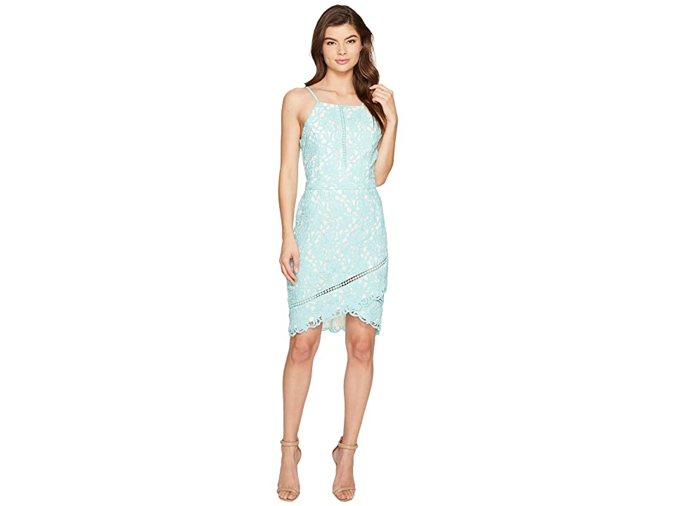 Adelyn Rae Sabina Woven Lace Sheath Dress (Aqua) Women