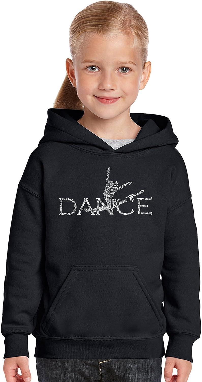 Dancer LA Pop Art Girls Word Art Hooded Sweatshirt